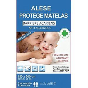 BNG Alése Lit Anti-Acariens Anti-Allergique,(180 x 200) - Publicité