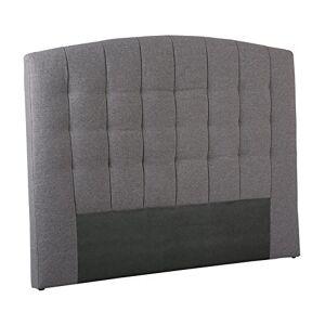 Tousmesmeubles Tte de lit Tissu Gris 140 cm Marion L 148 x l 8 x H 113 Neuf - Publicité