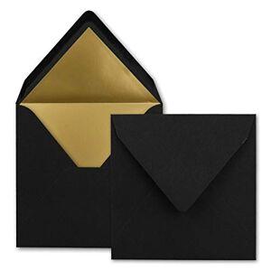 FarbenFroh by GUSTAV NEUSER Lot de 1000 enveloppes carrées Noir 15,5 x 15,5 cm - Publicité