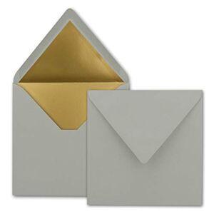 FarbenFroh by GUSTAV NEUSER Lot de 1000 enveloppes carrées Gris clair 15,5 x 15,5 cm - Publicité