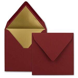 FarbenFroh by GUSTAV NEUSER Lot de 1000 enveloppes carrées Rouge foncé 15,5 x 15,5 cm - Publicité
