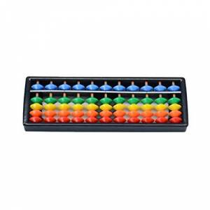 Ketamyy 5 Perles Angulaires Abacus Boulier en plastique Soroban Mathematique Chinois Japonais Outil de Calcul Traditionnel Abacus Mind Math pour Enfants 11 Chiffres - Publicité