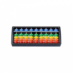 Ketamyy 5 Perles Angulaires Abacus Boulier en plastique Soroban Mathematique Chinois Japonais Outil de Calcul Traditionnel Abacus Mind Math pour Enfants 9 Chiffres - Publicité