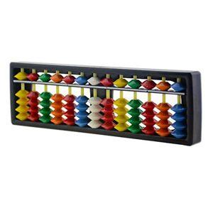 XUMIN 1pcs ABS Abacus Chinois Calculatrice Cadre 13 Tiges Chiffres avec Perles Colorées pour Enfants Calculant et Arithmétique Mathématiques ducation - Publicité