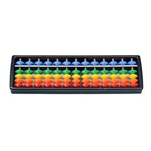 Ketamyy 5 Perles Angulaires Abacus Boulier en plastique Soroban Mathematique Chinois Japonais Outil de Calcul Traditionnel Abacus Mind Math pour Enfants 13 Chiffres - Publicité