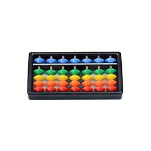 Ketamyy 5 Perles Angulaires Abacus Boulier en plastique Soroban Mathematique Chinois Japonais Outil de Calcul Traditionnel Abacus Mind Math pour Enfants 7 Chiffres - Publicité