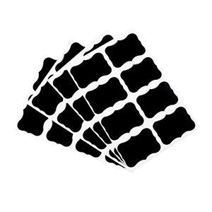 CamKpell-C Tableau noir autocollants étiquettes 36 pcs tableau noir tableau noir tableau autocollants artisanat cuisine pot étiquettes 49 x 34 mm décoration décalcomanies étiquettes noir - Publicité