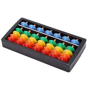 DASINI Boulier en plastique pour enfants, 7 chiffres Outil de calcul mathématique pour enfants Outil de calcul des mathématiques et de calcul arithmétique - Publicité