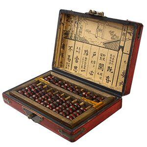Larcele Traitement de Vieillissement Vintage Perle en Bois Arithmétique Laque Abacus Fournitures Scolaires pour les Enfants SP-01 - Publicité