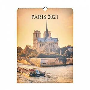 DRAEGER PARIS 1886 Draeger Calendrier Mural Déco Paris 2021 Grille Mensuelle 7 Langues Certifié FSC Mixte Encre Végétale Calendrier 2021 Mural Déco Grand Format 29x39cm - Publicité