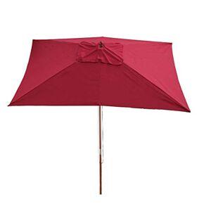 Mendler Parasol en Bois, Parasol de Jardin Florida, Parasol de marché, rectangulaire 2x3m Bordeaux - Publicité