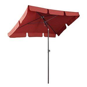 Sekey Parasol de Jardin 200  125 cm Parasol de terrasse Protection Solaire UV 50+ (Terracotta) - Publicité