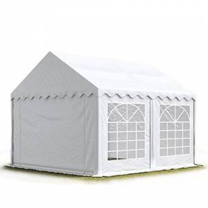 TOOLPORT 5x5 m Tente de réception/Barnum Blanc Toile de Haute qualité env. 500g/m PVC - Publicité
