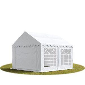 TOOLPORT 4x5 m Tente de réception/Barnum Blanc Toile de Haute qualité env. 500g/m PVC - Publicité