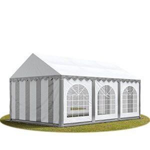 TOOLPORT Tente Barnum de Réception 3x6 m Bches PVC env. 500g/m Gris-Blanc Cadre de Sol Jardin - Publicité