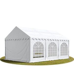 TOOLPORT Tente Barnum de Réception 4x6 m Bches PVC env. 500g/m Blanc Cadre de Sol Jardin - Publicité