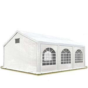 TOOLPORT Tente de réception 3x6 m Tente de Jardin Blanc bche PE 300 g/m imperméable résistante aux UV avec Cadre de Sol - Publicité