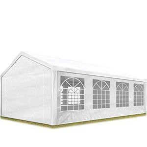 TOOLPORT Tente de réception 4x8 m pavillon Blanc bche PE épaisse de 180 g/m imperméable Tente de Jardin - Publicité