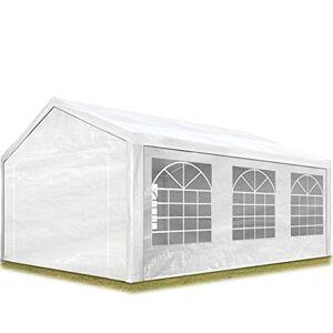 TOOLPORT Tente de réception 4x6 m pavillon Blanc bche PE épaisse de 180 g/m imperméable Tente de Jardin - Publicité