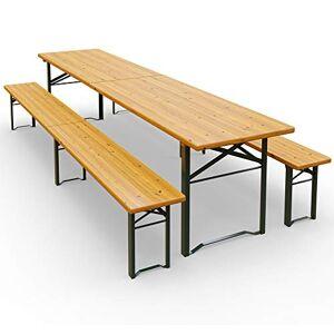 Deuba Ensemble Table et bancs 3 Pieds pliants 220 cm pour Jardin terrasse fte - Publicité