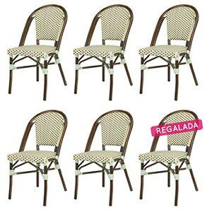 Rotin Design Soldes : -16% Lot de 6 chaises Tom en polyrotin - Publicité