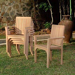 Teck'Attitude Fauteuil de Jardin empilable en Teck Lombok - Publicité