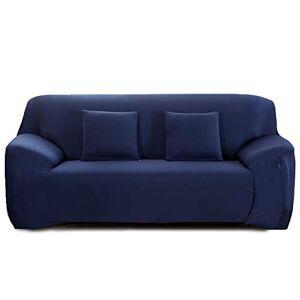 Cornasee Housse de canapé Extensible 3 Places avec accoudoirs,Revtement de Canapé (Bleu Marin,3 Places) - Publicité