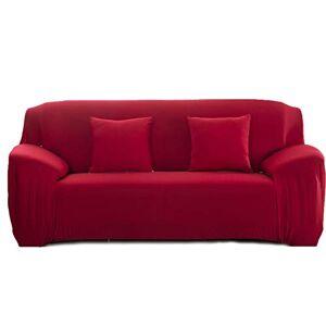 Cornasee Housse de canapé Extensible 2 Places avec accoudoirs,Revtement de Canapé (Rouge,2 Places) - Publicité