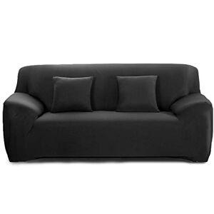 Cornasee Housse de canapé Extensible 2 Places avec accoudoirs,Revtement de Canapé (Noir,2 Places) - Publicité