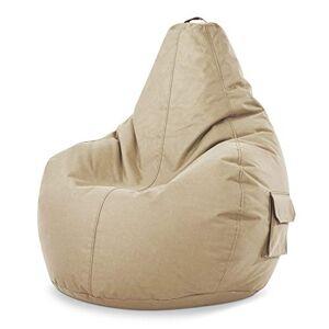 Green Bean Cozy Beanbag Pouf Cozy 80x70x90 cm Remplissage de Perles EPS 230 litres Chaise de Jeu pour intérieur et extérieur, Housse Lavable pour Enfants et Adultes Beige - Publicité