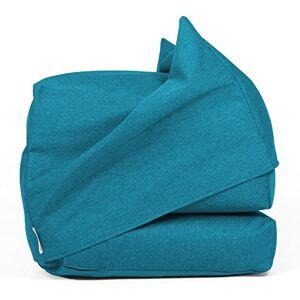 Arketicom FU-TOUF Pouf Lit 190 cm Chauffeuse Canap Tissu Pliable Chambre Blue - Publicité