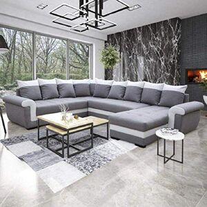 INSIDE Canapé Convertible Londonderry Angle panoramique Gris et Blanc - Publicité