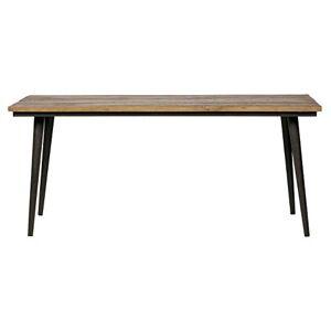 PEGANE Table  Manger en Bois d'orme et Fer Noir L 220 x P 90 x H 77 cm - Publicité