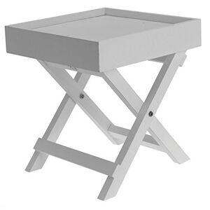 Spetebo Petite table d'appoint en bois 2 pices avec plateau amovible - Publicité
