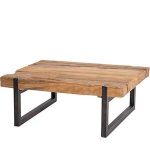 Meuble Passion Table Basse Industrielle Teck et métal recyclés 120x60cm rectangulaire - Publicité