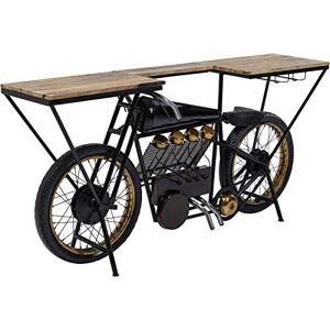 Kare Design Table de Bar Moto Noire - Publicité