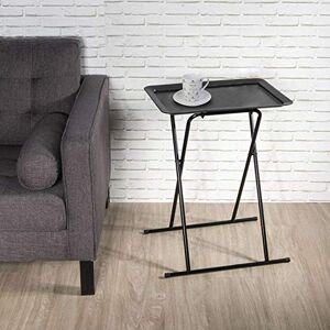 THE HOME DECO FACTORY Table d'appoint Pliable Design Zoé L. 53 x H. 66 cm Noir - Publicité