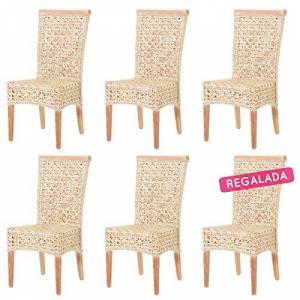 ROTIN DESIGN Lot de 6 chaises Doris en rotin - Publicité