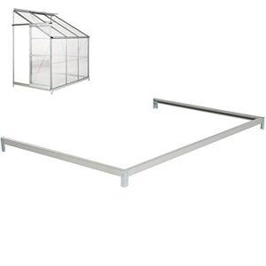 TecTake Base pour Serre de Jardin adossée en Acier galvanisé 190x127x12 cm - Publicité