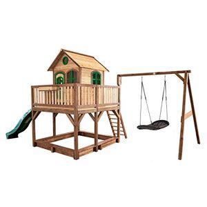 Axi House Maisonnette Liam avec balancoire Nid Ovale Roxy Brun Vert avec Toboggan Vert - Publicité