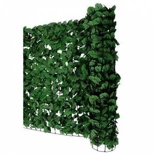 Mendler Pare-Vue Balcon Feuilles foncés, Abat-Vent, Enveloppement pour terrasse, clôture ~ 300x150cm - Publicité