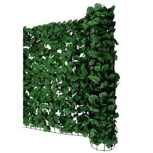 Mendler Pare-Vue Balcon Feuilles foncés, Abat-Vent, Enveloppement pour terrasse, clture ~ 300x150cm - Publicité
