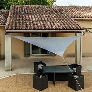 WERKA PRO 11121 Toile d'Ombrage Ajourée 160 g/m2 En Polyester Triangulaire 3,6 x 3,6 x 3,6 m Taupe Pour Balcon, terrasse et Jardin - Publicité