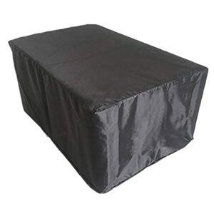 XXYANZI Housse de Protection 255x255x80cm, Rectangulaire Imperméable, Anti-Vent/UV/Poussire Bache de Protection pour Meuble Extérieur Jardin. Noir - Publicité