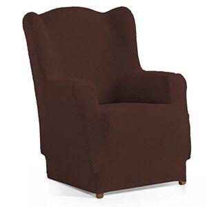 Domum Housse de canapé élastique 1 place (70  110 cm). Protge-fauteuil antidérapant et résistant. Housse et doublure pour canapé et fauteuil  oreilles Marron - Publicité