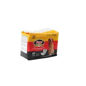 Dono Lot de 4 couches hygiéniques pour chiens masques, douces et fraches, sans odeur, pour usage et jet, 4 tailles disponibles (L-32 pices) - Publicité