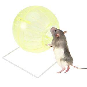 POPETPOP Ballon d'exercice Hamster, Mini-Ballon Polyvalent 4 en 1 de Hamster en Cours d'exécution-Mini-Ballon pour Hamster Nain, Souris, Hamster syrien, Petit Animal, Jaune - Publicité