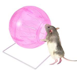 POPETPOP Ballon d'exercice Hamster, Mini-Ballon Polyvalent 4 en 1 de Hamster en Cours d'exécution-Mini-Ballon pour Hamster Nain, Souris, Hamster syrien Petit Rose - Publicité