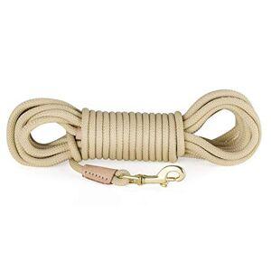 Wishdeal Laisse de dressage de chien durable en nylon pour chien 3 m, 5 m, 10 m, 20 m pour chiens de taille moyenne et grande taille Antidérapante - Publicité