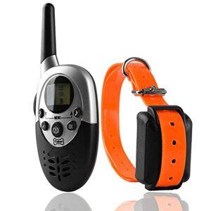XQAQX Colliers de Dressage Collier de Dressage de Chien avec Collier de Dressage de télécommande, écran LCD étanche 1000m (Couleur : A) - Publicité